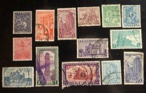India Scott #207-2012, 214-219, 231, 236 VF Used 1949 Issue Cat. $2.75