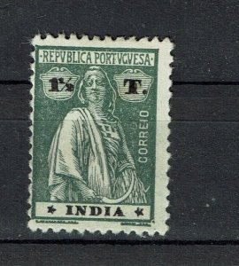 Portuguese India 1922 Ceres MH #315 Type III-IV Papel Liso