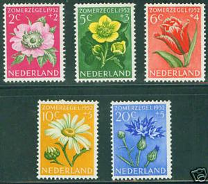 Netherlands Scott B238-42 complete MH* 1952 set CV$26