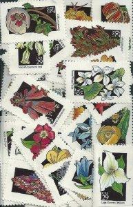 US #2647-2696 Sgls $14.50(20x29c)Wildflowers, MNH, (1)