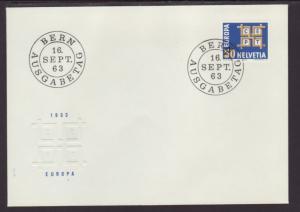 Switzerland 429 Europa 1963 U/A FDC