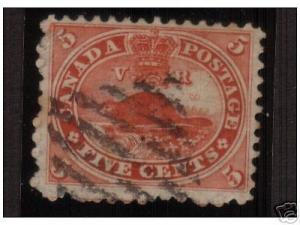 Canada #15iii XF Used On Very Thick Paper
