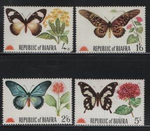 BIAFRA, 1968, (4)SET, MNH, UNLISTED, BUTTERFLIES