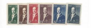 Finland, 233-38, President Risto Ryti Singles, MNH