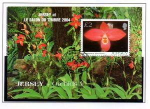 Jersey Sc 1129b 2004 £2 Orchid Le Salon stamp sheet used