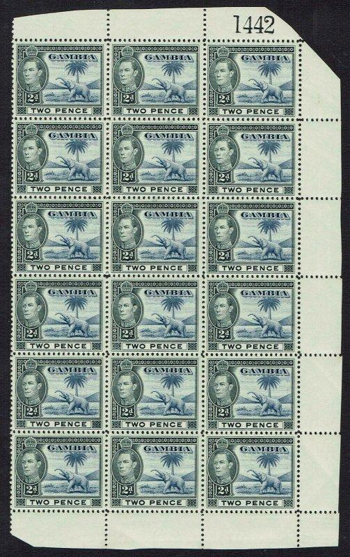 GAMBIA 1938 KGVI ELEPHANT 2D BLOCK MNH **