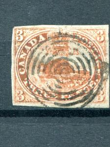 Canada #1  Used  strong laid lines  looks VF  - Lakeshore Philateics
