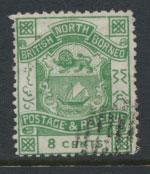 North Borneo  SG 43 blue green  Used    please see scans & details