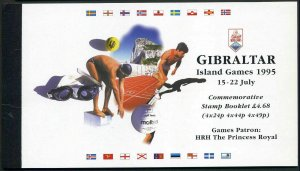 Gibraltar 680a-682a,682b booklet,MNH.Island Games 1995.