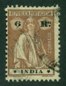 Portuguese India 1921 #375Q U SCV(2020)=$0.70