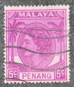 DYNAMITE Stamps: Malaya Penang Scott #32 – USED