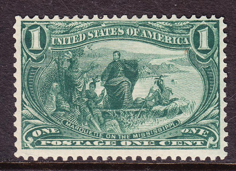 United States 1898 1c yllow-grn Trans Mississippi Expo F/VF/Mint/(*)