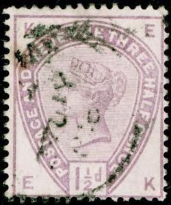SG188, 1½d lilac, USED. Cat £42. EK