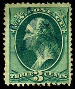 U.S. BANKNOTE CANCELS 158  Used (ID # 42339)