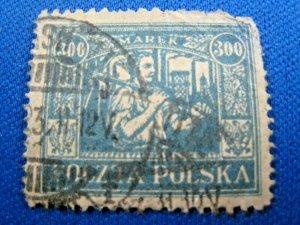 POLAND 1923  -  SCOTT # 190  -  USED (Hp4)
