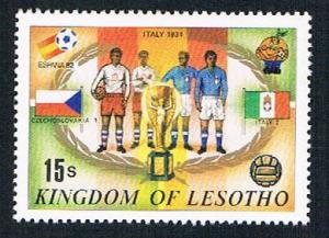 Lesotho 363b MLH Soccor Champions  1934 Italy 1982 (BP32213)