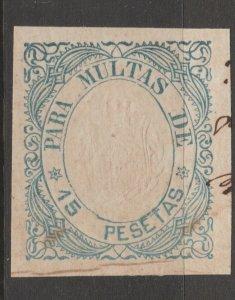 Spain Antilles Revenue Fiscal Cinderella stamp 9-20-8