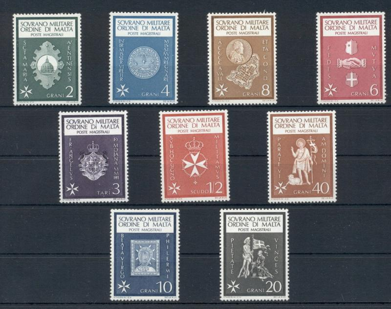 Coins on Stamps Coats of Arms Flags Sovereign Order of Malta 9 MNH stamps set
