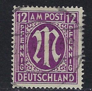 Germany AM Post Scott # 3N8b, used