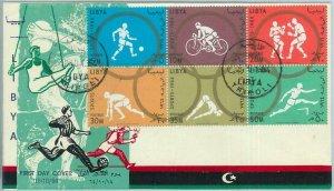 68022 - LIBYA - POSTAL HISTORY -  1964 Olympic Games  FDC cover BOXING football
