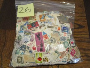 Mutt-Mix Kiloware / Mixture / Mostly Off Paper #26 - (4D3) WDWPhilatelic
