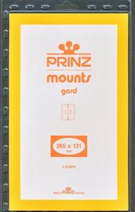Prinz SCOTT Stamp Mount 131/265 BLACK Background Pack of 5