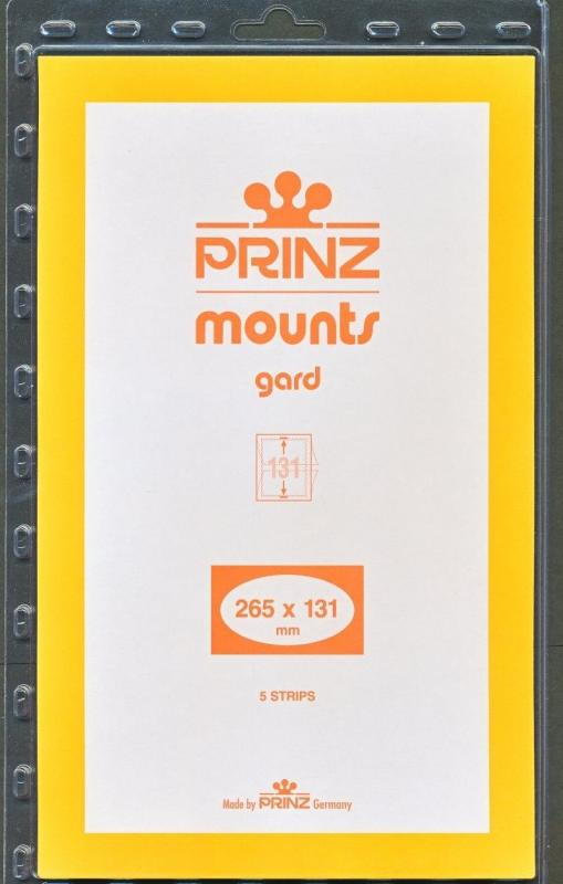 Prinz Stamp Mount 131/265 BLACK Background Pack of 5