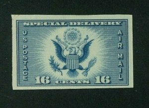 US 1935 16c dark blue Air Post Special Delivery Imperf, Scott 771, Value = $2.50