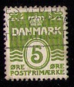 DENMARK Sc 223a Used Gray Green F-VF Cat.$40.00