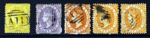 ST. LUCIA QV 1864-76 A Watermark Crown CC Perf 12½ Set (ex 1d.) SG 12 to 14c VFU