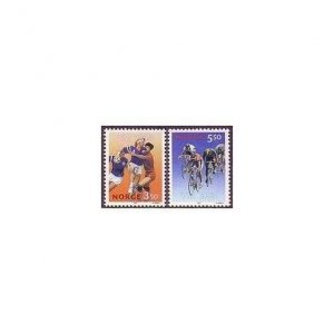 Norway 1040-1041,MNH.Michel 1129-1130. Team handball,Bicycling.1993.