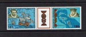 France Polynesia: 1995 400th Anniversary Discovery of Marquese Is, MNH set