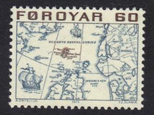 Faroe Islands  #10  1975 MNH definitives 60 ore