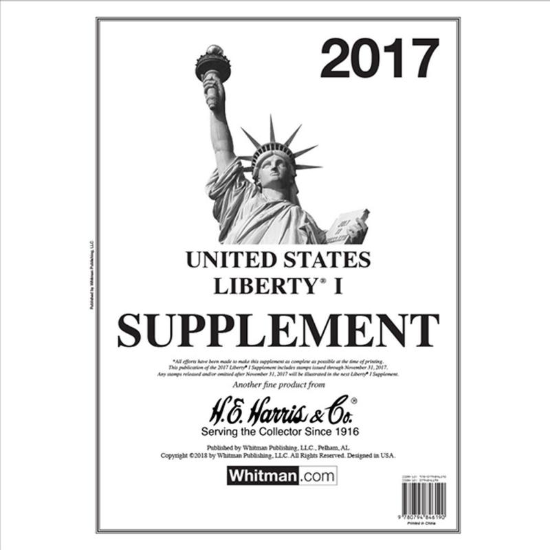 H E Harris Liberty 1 Supplement for Stamp issued in 2017 (Liberty I)