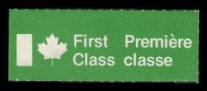 CANADA 1973 SCARCE OLD 1st Class / 1e classe LABEL MNH CAT #cc8955.4 CINDERELLA