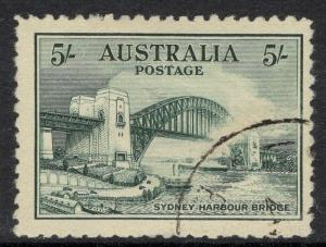 AUSTRALIA SG143 1932 5/- SYDNEY HARBOUR BRIDGE FINE USED