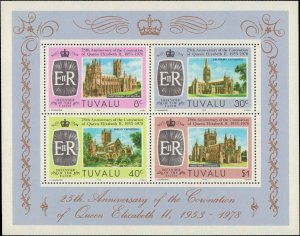 Tuvalu #81-84a, Complete  Set(5), 1978, Never Hinged