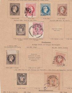 AUSTRIA ^^^^^^used   Postal Cards CLASSICS on page   $$@dcc384ostt