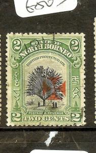 NORTH BORNEO (P0601B) RED  CROSS  2C TREE   SG201   VFU