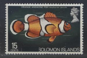 Solomon Is. - Scott 304 - Overprint -1975 - MVLH - Single 15c Stamp