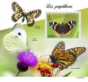 C A R - 2021 -Butterflies - Perf Souv Sheet - Mint Never Hinged
