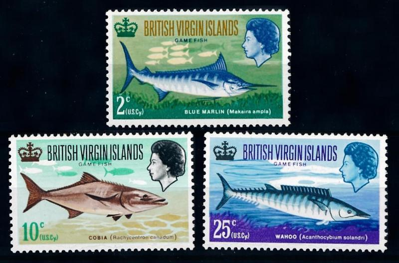 [65988] British Virgin Islands 1968 Marine Life Fish From Set MLH