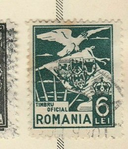 A5P47F109 Romania Official Stamp 1929 6l used