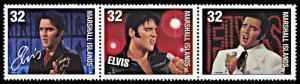 Marshall Islands 652, MNH, Elvis Presley strip of 3