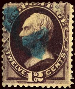 U.S. #162 Used Fine Blue Cancel