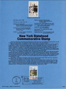 US SP810 New York Statehood 2346 Souvenir Page FDC