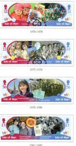 Isle of Man Sc 1361-4 2010 Girl Guides stamp set used