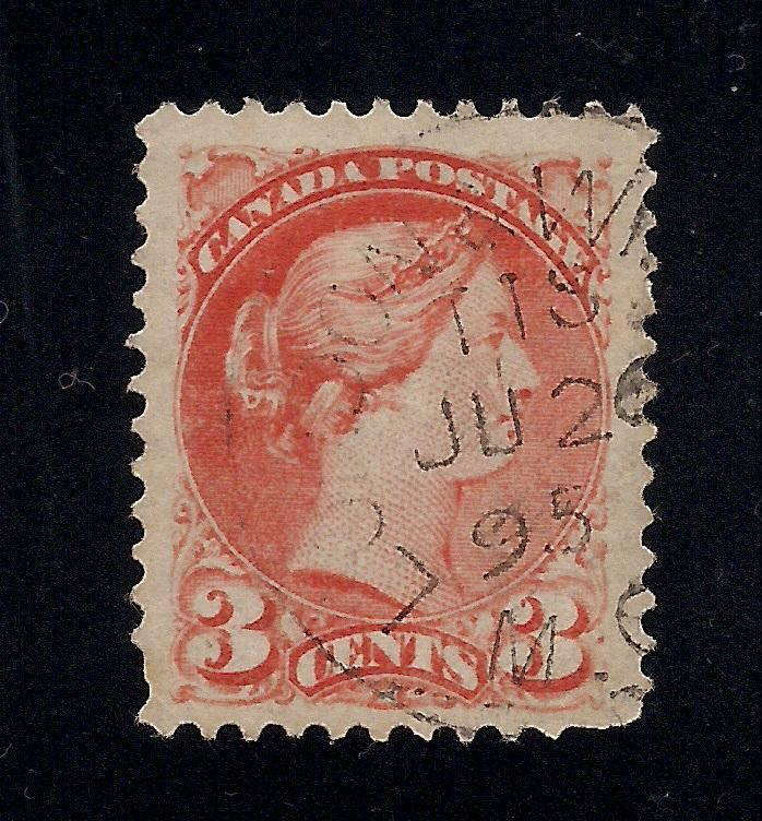Canada #37 Orange Red - 3 Cent - Used