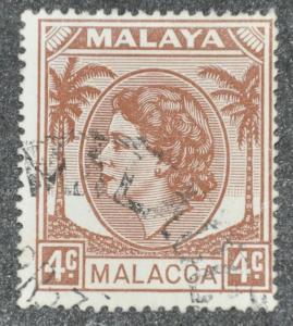 DYNAMITE Stamps: Malaya Malacca Scott #31 – USED