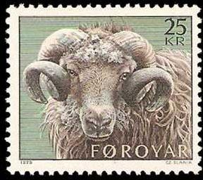 Faroe Islands - 1979-  Sheep-Rearing ,Ram MNH single  # 42